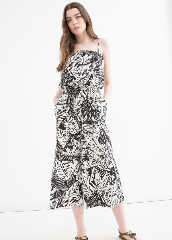 Patterned jumpsuit in 100% viscose | OVS