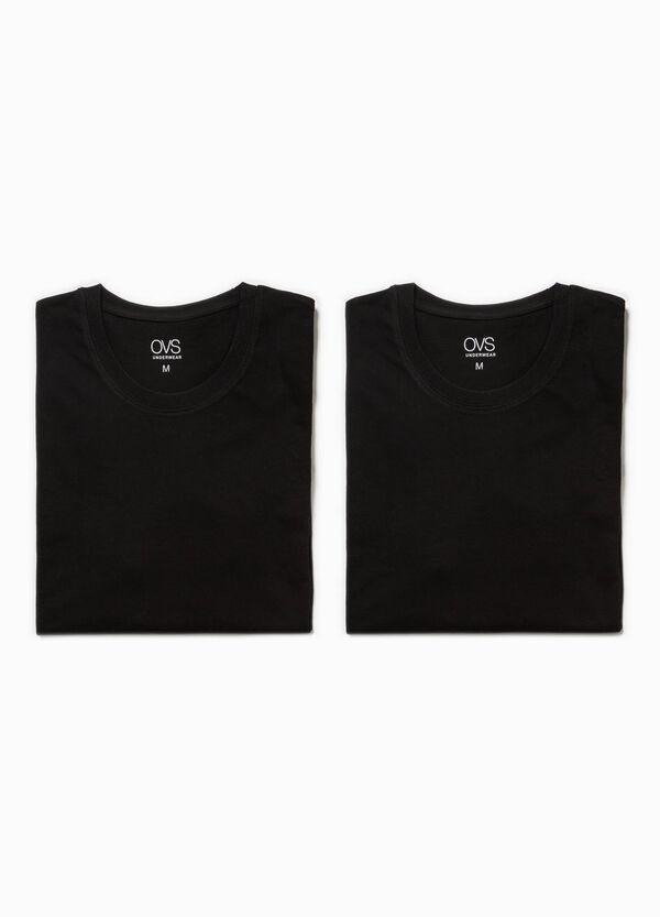 Two-pack cotton crewneck undershirts | OVS