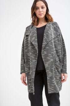 Curvy viscose blend coat, Black, hi-res