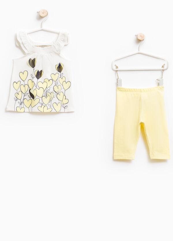 Conjunto de top y leggings con estampado | OVS