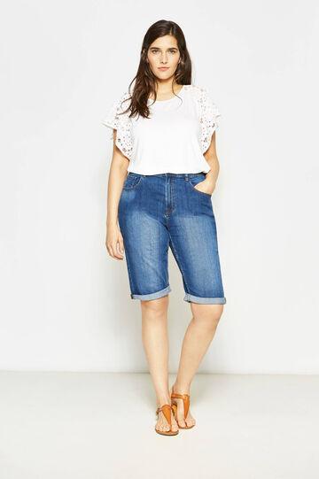 Bermuda di jeans effetto delavato Curvy