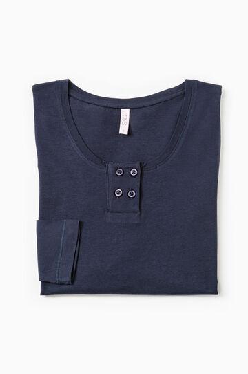 Maglia pigiama puro cotone, Blu navy, hi-res