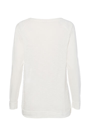 T-shirt inserti traforati Smart Basic, Bianco, hi-res