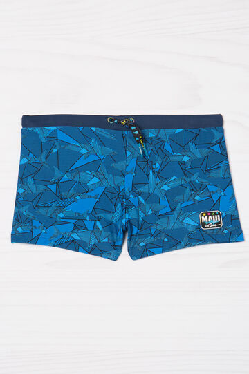 Stretch swim boxer shorts by Maui and Sons, Navy Blue, hi-res