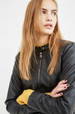Leather-look biker jacket, Black, hi-res