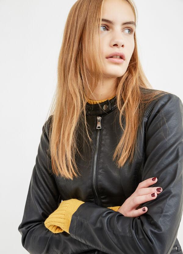 Leather-look biker jacket | OVS