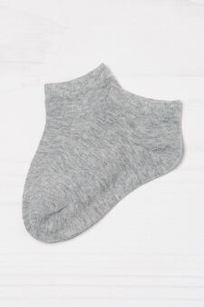 Set due paia di calze stretch, Grigio melange, hi-res