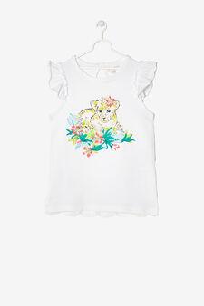 Maglietta smanicata strass, Bianco, hi-res
