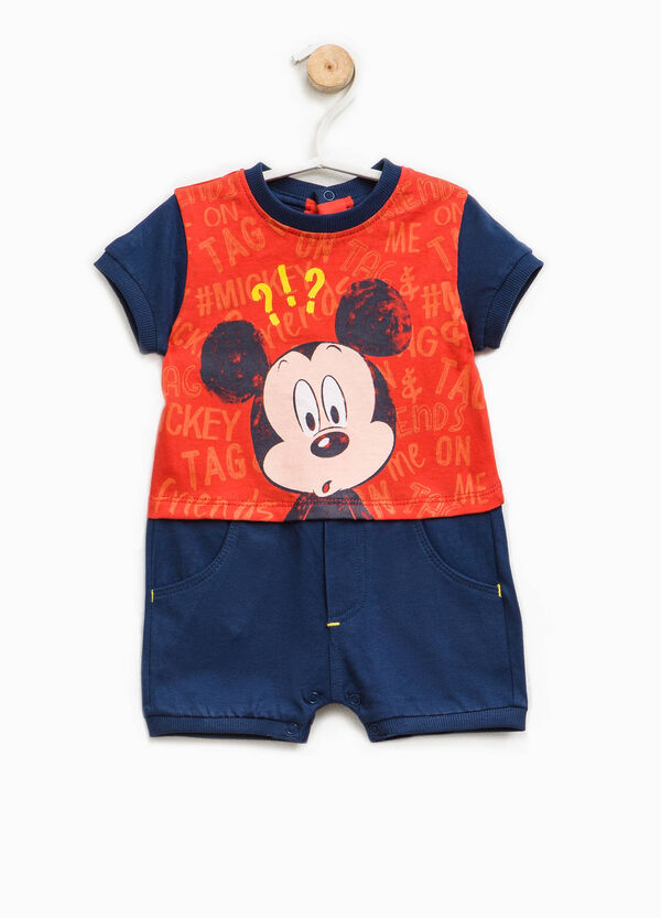 Cotton romper suit with Mickey Mouse print | OVS
