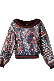 Sweatshirt, Jean Paul Gaultier for OVS, Multicolour, hi-res