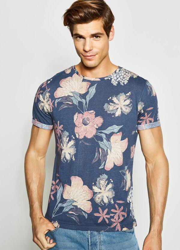 100% cotton floral T-shirt | OVS