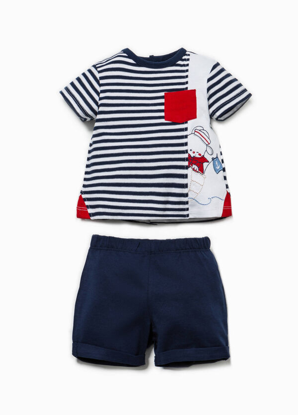 Striped outfit in 100% Biocotton | OVS