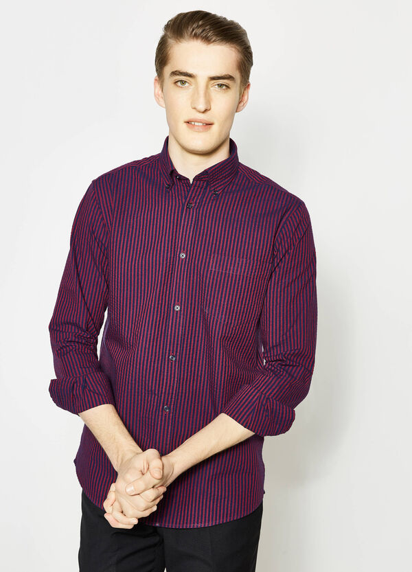 Regular-fit formal shirt in striped cotton | OVS