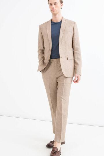 100% linen, regular-fit jacket