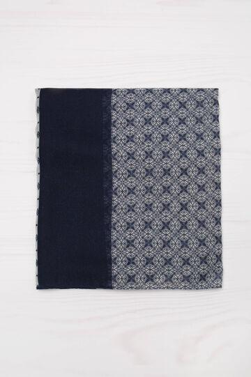 Sciarpa stampata, Blu navy, hi-res