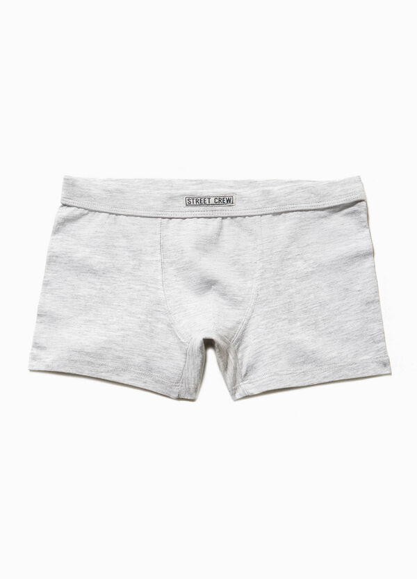 Solid colour boxers with patches | OVS