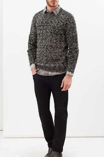 Camicia in jeans effetto delavato, Grigio chiaro, hi-res