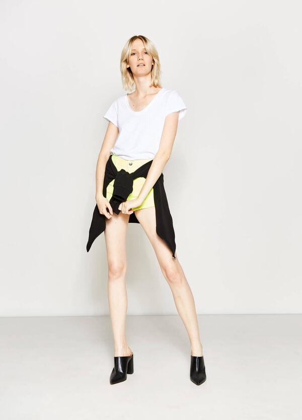 High waist stretch shorts | OVS
