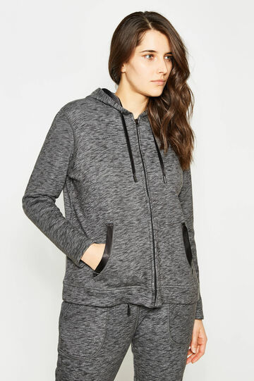 Curvy mélange hoodie, Slate Grey, hi-res