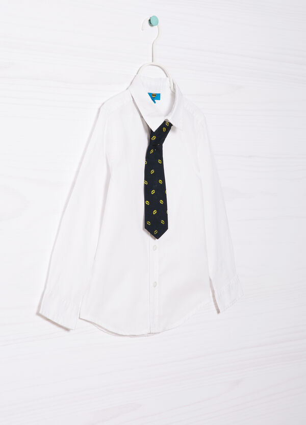 Shirt in 100% cotton with tie | OVS