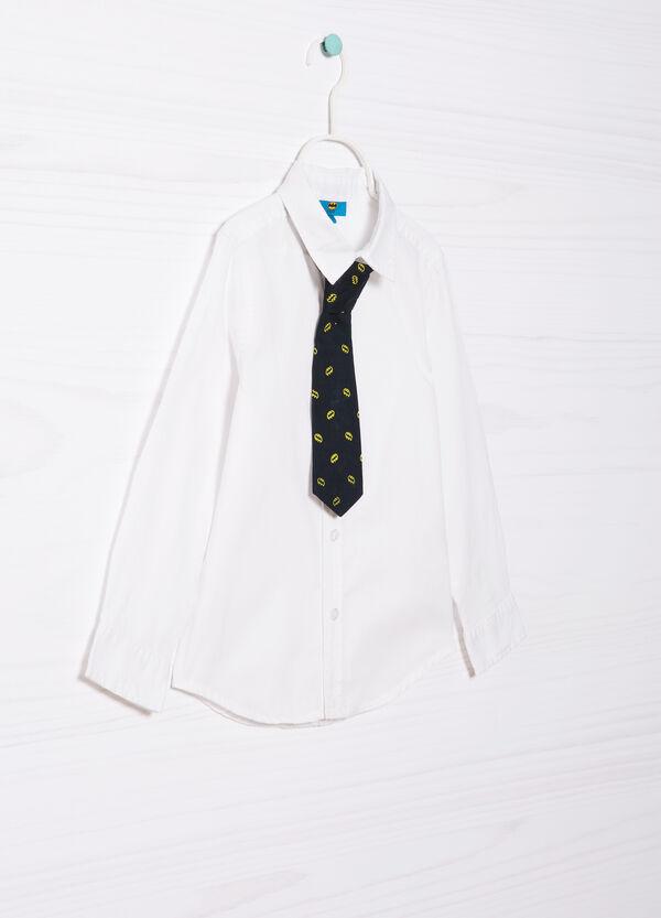 Camicia puro cotone con cravatta | OVS