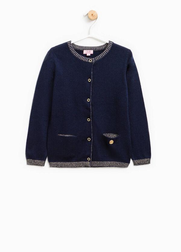 Cardigan lana e viscosa con glitter | OVS
