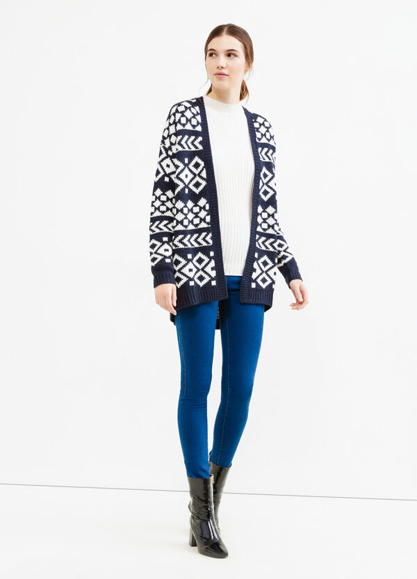 Patterned knitted cardigan   OVS