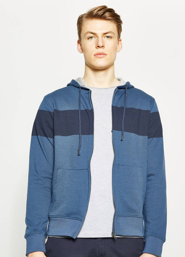 Hoodie with contrasting colour print | OVS