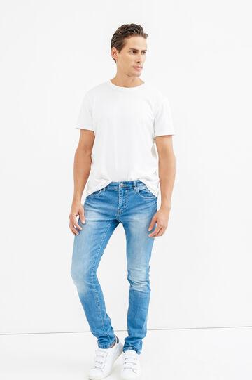 Jeans skinny fit effetto delavato, Lavaggio chiaro, hi-res