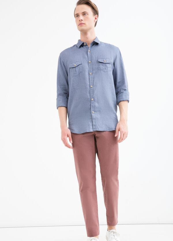 Camicia puro lino con taschini   OVS