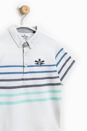 Polo shirt with striped print