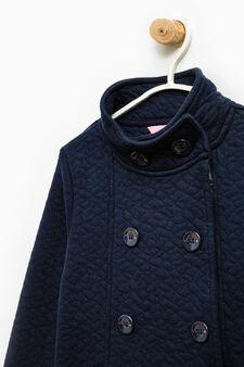 100% cotton coat with patch, Blue, hi-res