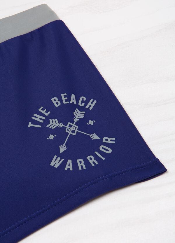 Stretch printed swim boxer shorts | OVS