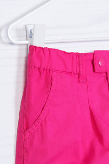 100% cotton pleated shorts, Fuchsia, hi-res