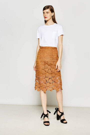Longuette skirt in lace