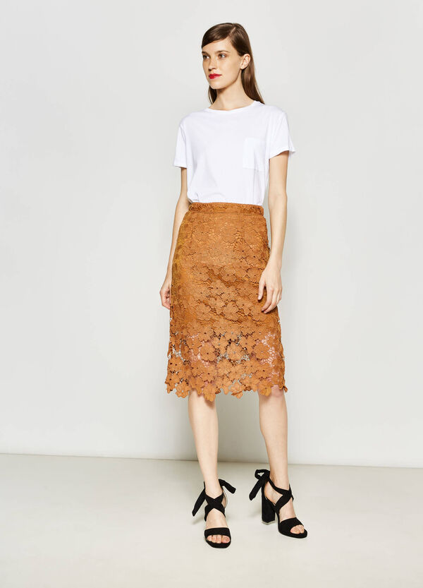 Longuette skirt in lace | OVS