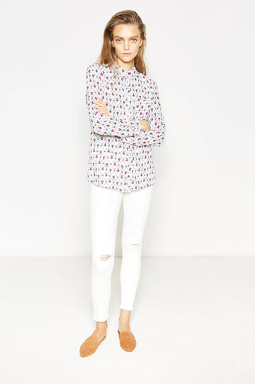 Viscose shirt with all-over print