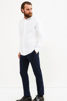 Camicia casual Rumford slim fit, Bianco, hi-res