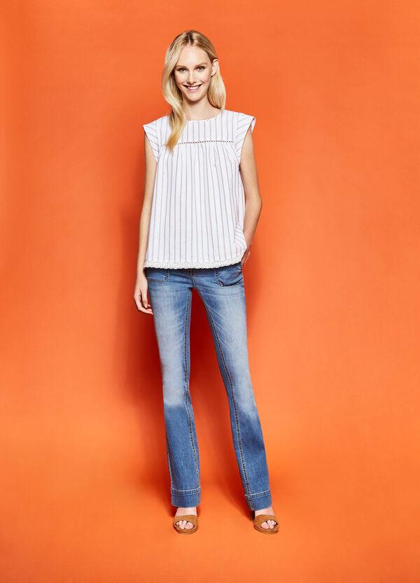 Blusa de rayas con diseño calado | OVS