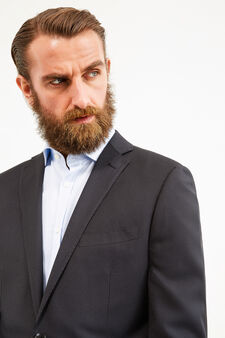 Elegant, striped, regular-fit suit, Dark Grey, hi-res