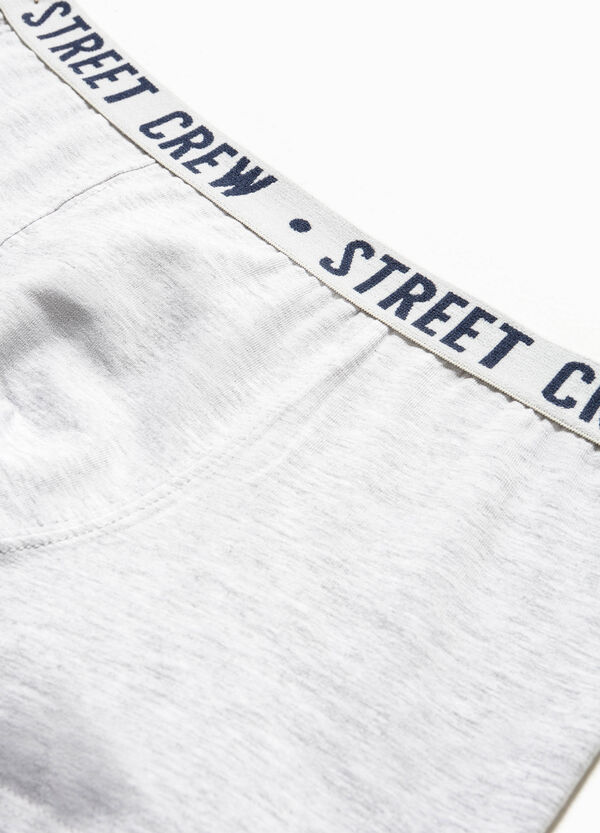 Boxer in cotone stretch stampa lettering | OVS