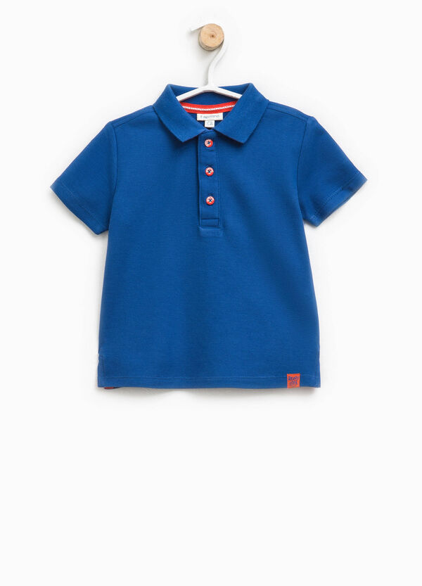 100% cotton polo shirt with patches | OVS