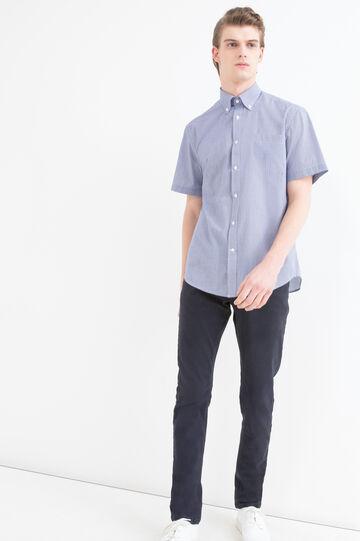 Camicia regular fit a micro quadri
