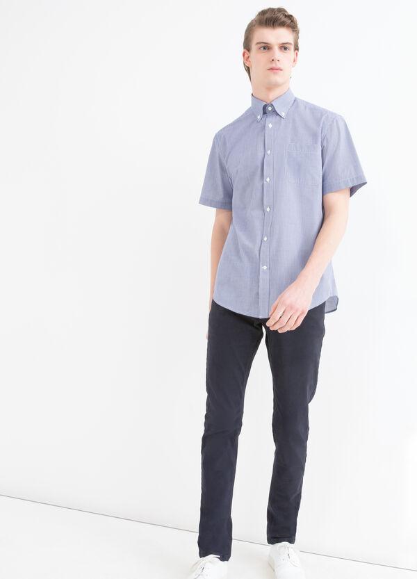 Camicia regular fit a micro quadri | OVS