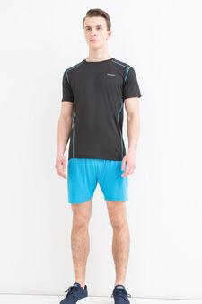 Shorts sportivi stretch tasca retro, Blu, hi-res