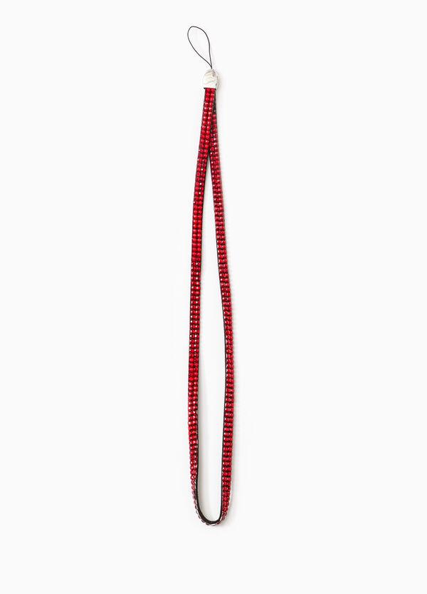 Wrist strap with diamantés   OVS