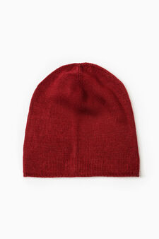 Beanie with turn-up, Red, hi-res