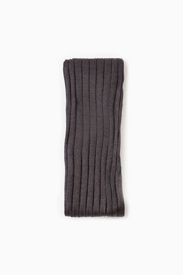 Solid colour long socks in 100% cotton, Slate Grey, hi-res