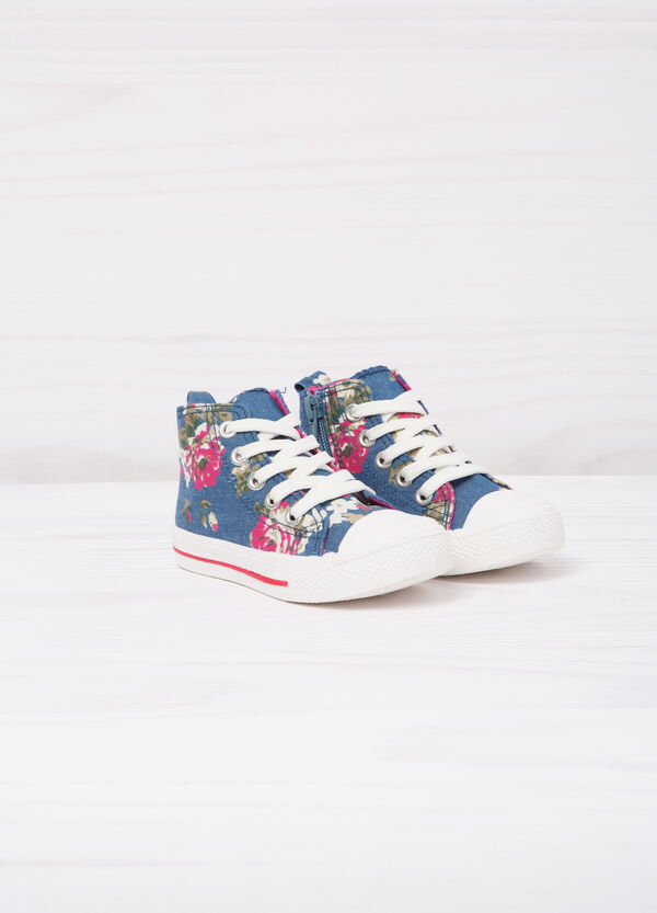 Sneakers alte con stampa floreale | OVS