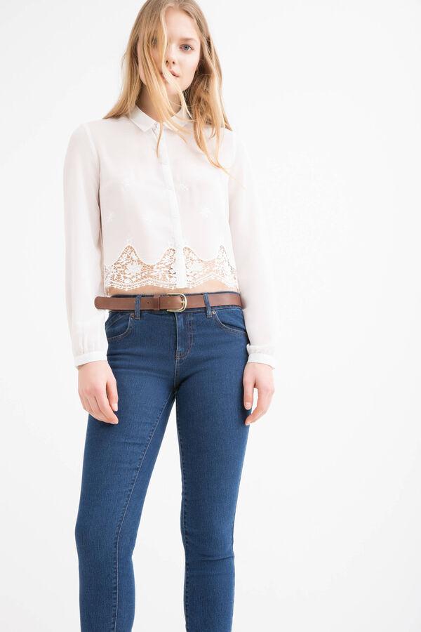 Camicia con inserto in pizzo | OVS